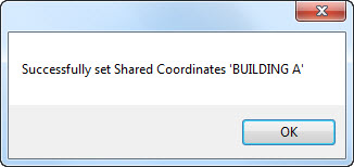 Revit 2014 - Successfully set Shared Coordinates