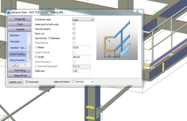 Autodesk Advance Steel Railings