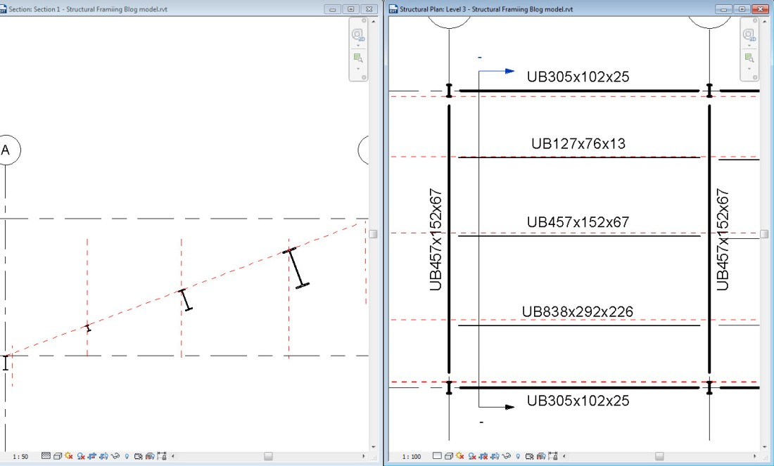 Revit Stick symbols in plan and section