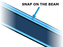 Revit 2019 3D Snapping to beam
